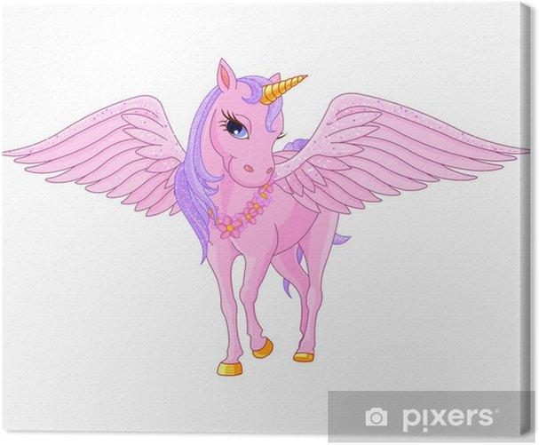 Unicorn Pegasus Canvas Print - Imaginary Animals