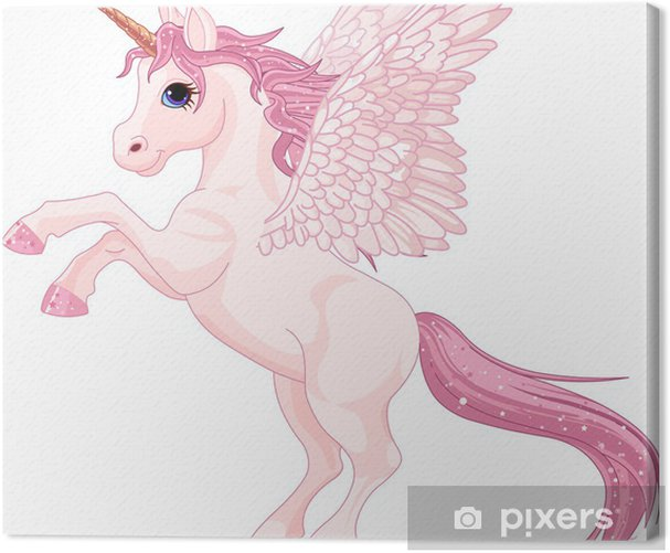Unicorn Pegasus Canvas Print - Animals