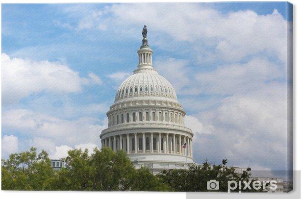 Us Capitol Building Dome Washington Dc Canvas Print Pixers We Live To Change