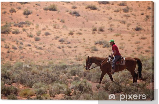 USA - horse riding in Monument valley Canvas Print - America