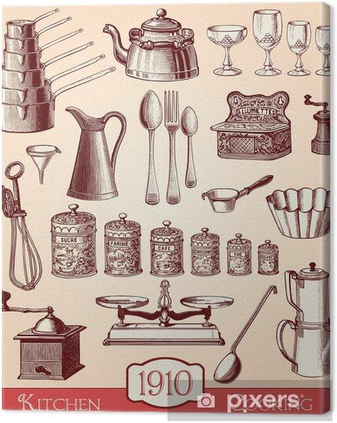 Ustensiles de cuisine Canvas Print - Themes