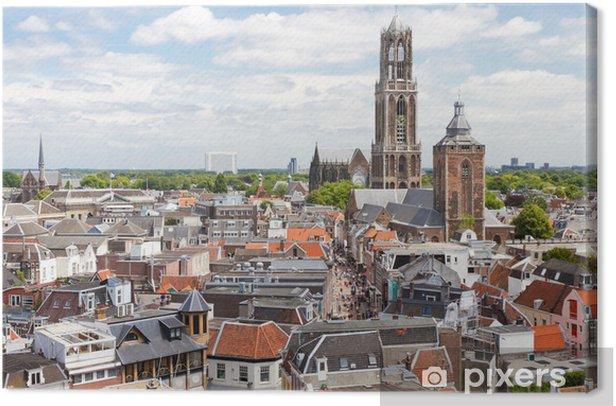 Utrecht aerial view, Netherlands Canvas Print - Themes