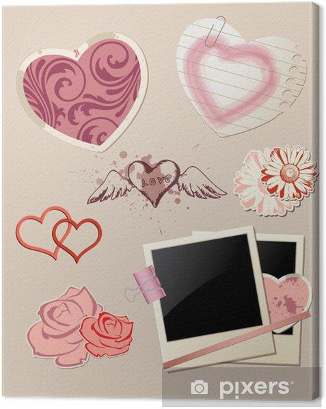 Valentine`s Day scrapbook Canvas Print - International Celebrations