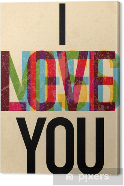 Valentine's Day type text calligraphic Canvas Print - iStaging 2