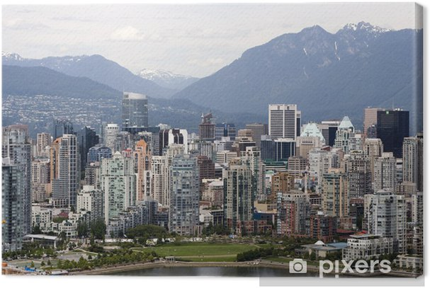 Vancouver Downtown Canvas Print Pixers 174 We Live To Change