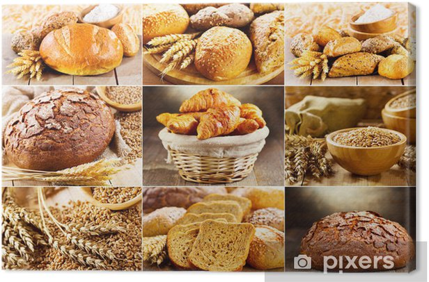 various fresh bread Canvas Print - Themes