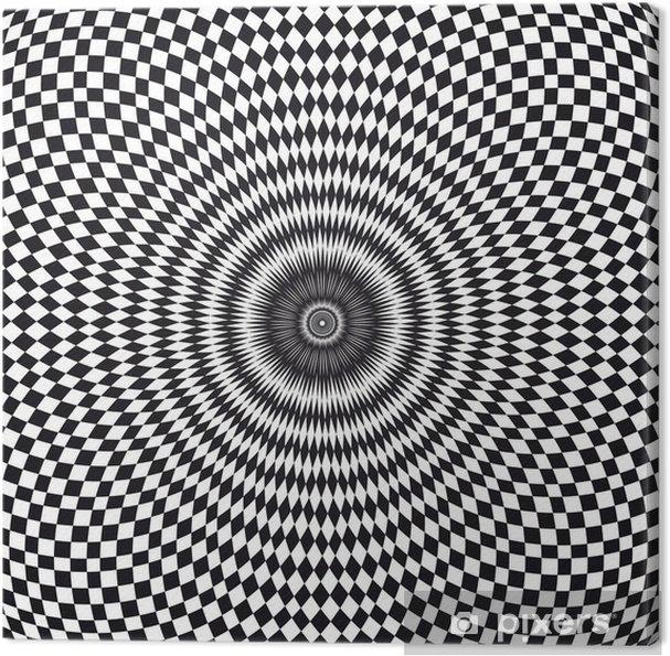 Vecteur Illusion Doptique Canvas Print