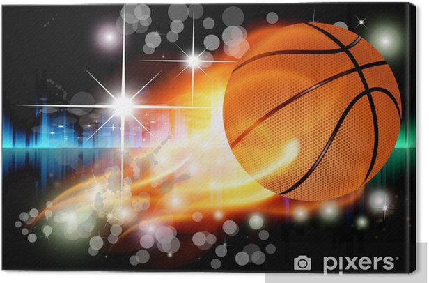 vector abstract background with basketball Canvas Print - Art and Creation