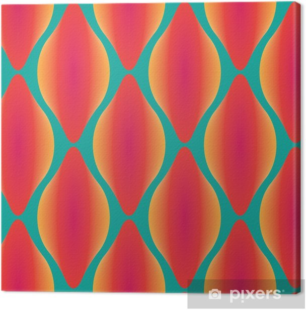 vector colorful abstract contemporary seamless geometric pattern Canvas Print - Graphic Resources