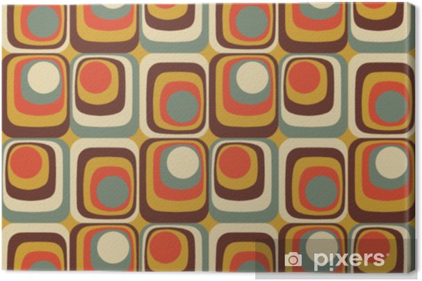Vector Colorful abstract retro seamless geometric pattern Canvas Print - Graphic Resources