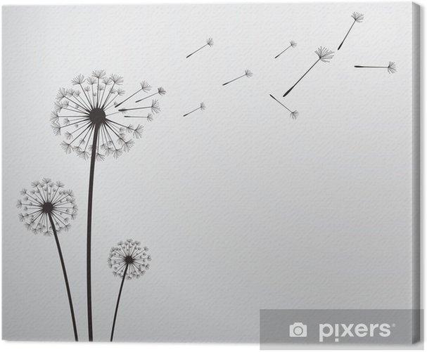vector dandelion Canvas Print - iStaging 2