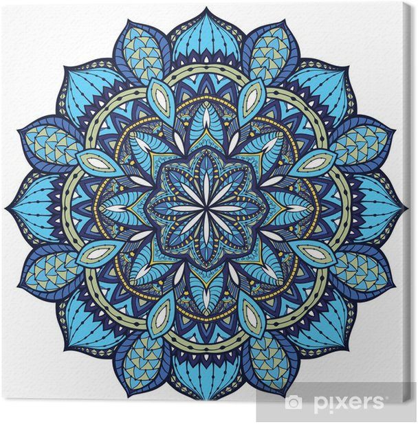Vector, elegant mandala, with intricate detail. Canvas Print - Wall decals