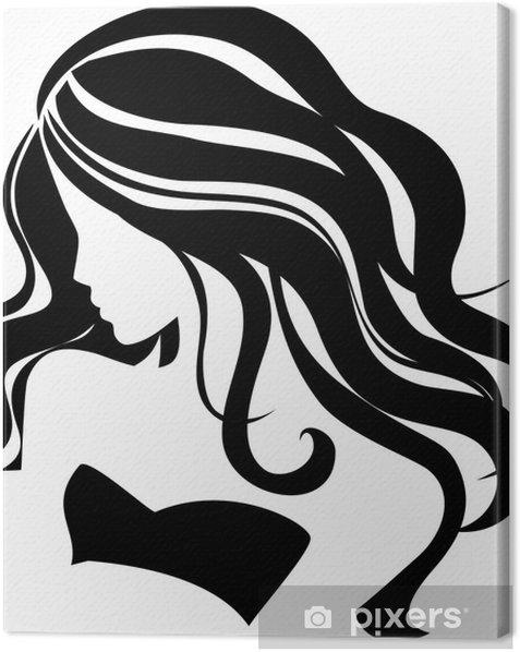 Vector girl Canvas Print - Fashion
