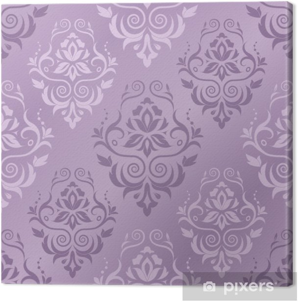 Vector illustration of damask pattern Canvas Print - Styles
