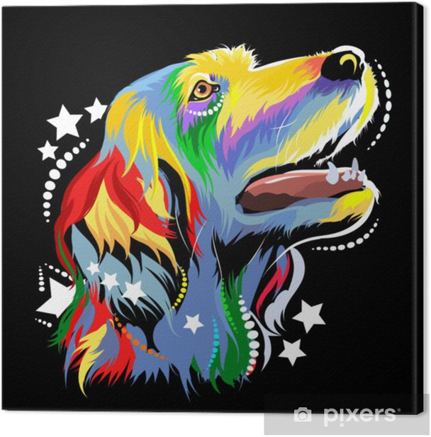 Vector image of a dog in the style of pop art Canvas Print - Animals