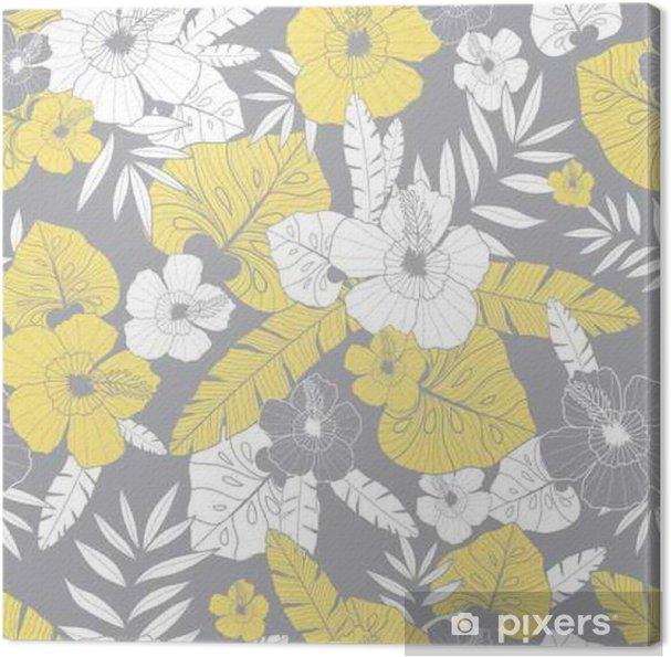 Vector Light Yellow And Grey Drawing Tropical Summer Hawaiian