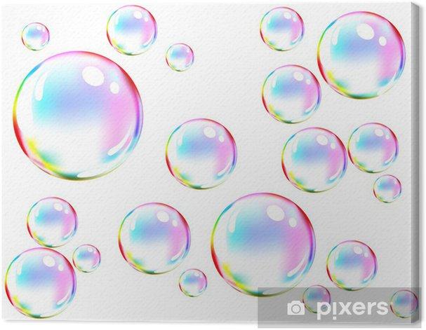 Vector of colored soap bubbles Canvas Print -
