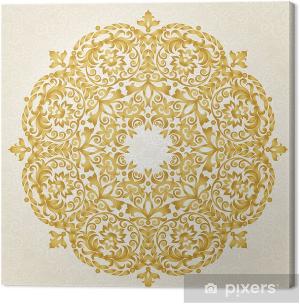 Vector ornament in Victorian style. Canvas Print - Themes