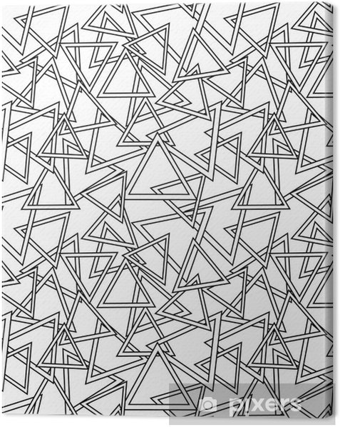 Vector pattern. Modern stylish texture. Repeating geometric tiles from striped triangles Canvas Print - Graphic Resources