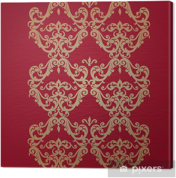 Vector seamless border in Victorian style. Canvas Print - Signs and Symbols