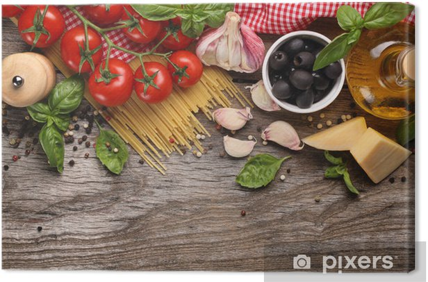 Vegetables,herbs and spices for Italian food Canvas Print - Themes