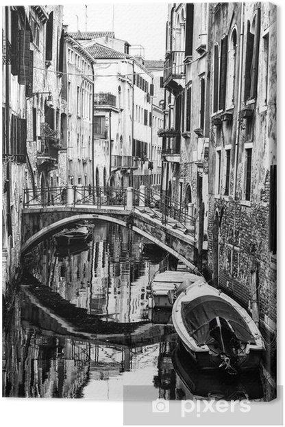 Venetian Canal. Italy Canvas Print - Themes
