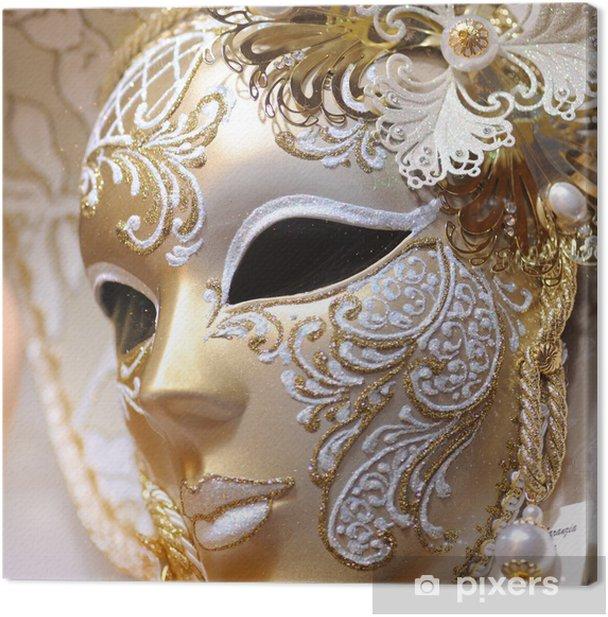 Venetian Carnival Mask Canvas Print - European Cities