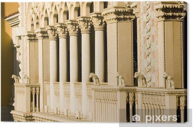 Venetian Style Balcony Columns Canvas Print - Monuments