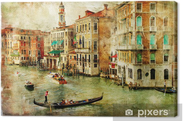 Venice -artwork in painting style Canvas Print - Themes