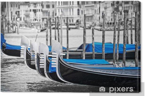 Venice gondolas Canvas Print - Themes