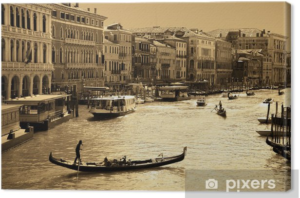 Venice in sepia toned Canvas Print - Themes