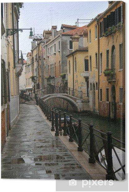 Venice Italy after a rainstorm Canvas Print - European Cities