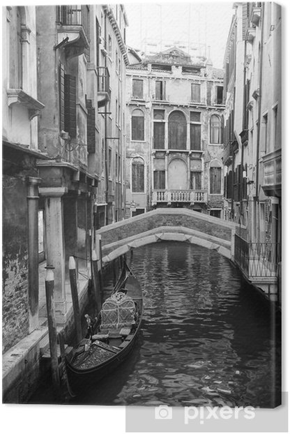venice view in black and white Canvas Print - Styles