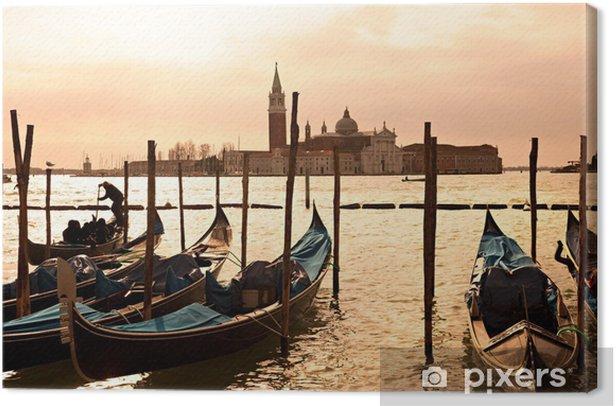 Venice, View of San Giorgio maggiore from San Marco. Canvas Print - Themes