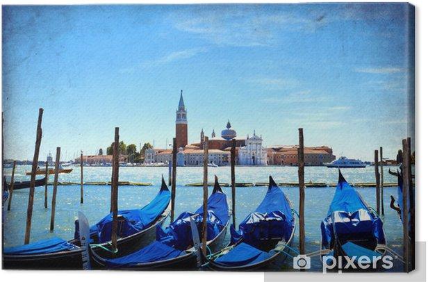 Venice, View of San Giorgio maggiore from San Marco Canvas Print - Themes
