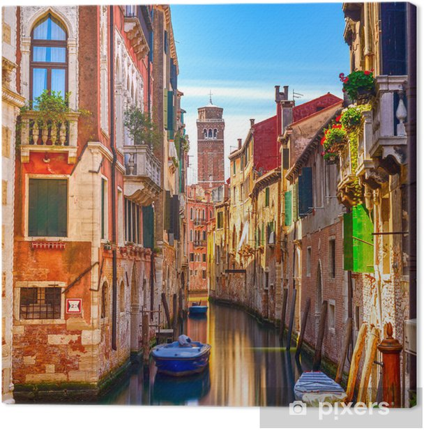 Venice water canal view Canvas Print -