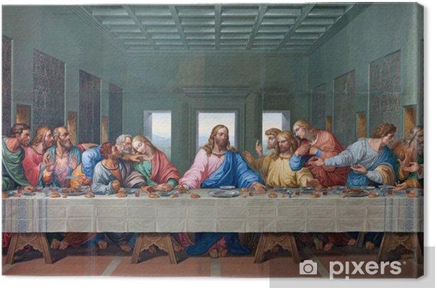 Vienna - Mosaic of Last supper - copy Leonardo da Vinci Canvas Print - Themes