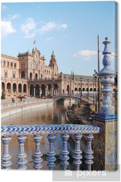 View from the deck of the Spanish Steps - Seville - Spain Canvas Print - Holidays