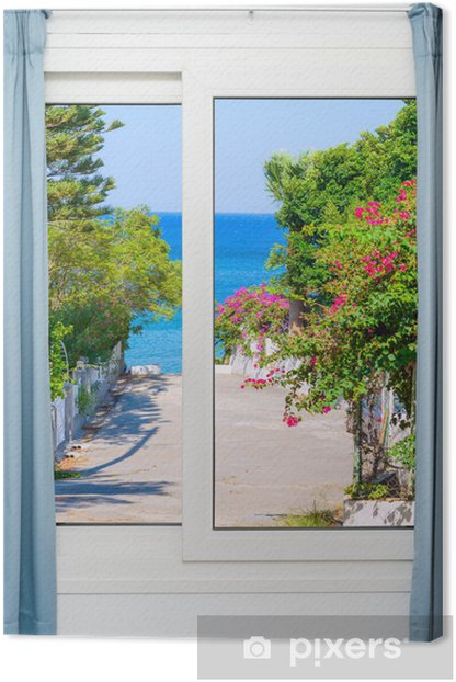 view from the window on the Canvas Print - Seasons
