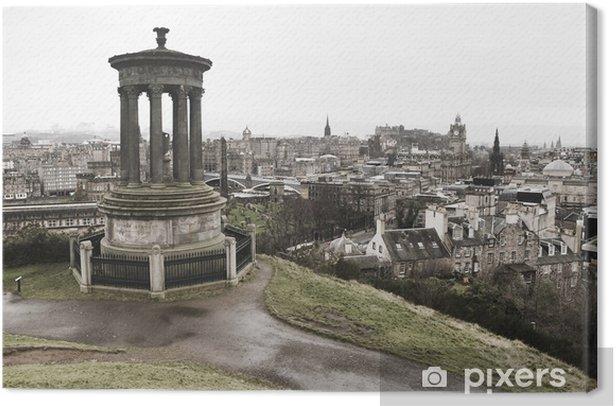 View of Edinburgh from Calton Hill Canvas Print - Themes