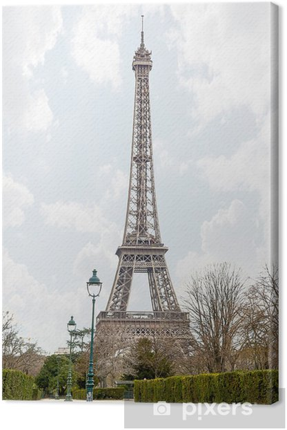 View of the Eiffel Tower Canvas Print - European Cities