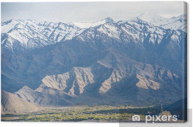 View on Spituk buddhist monastery near Leh, Lada Canvas Print - Themes