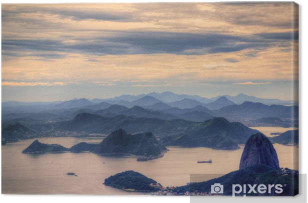 View on Sugarloaf Mountain in Rio de Janeiro Canvas Print - Brazil
