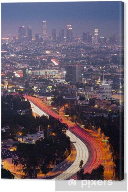 View Over LA Canvas Print - Themes