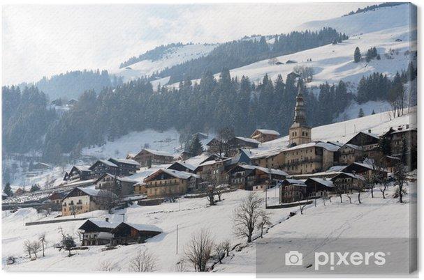 village de montagne Canvas Print - Holidays