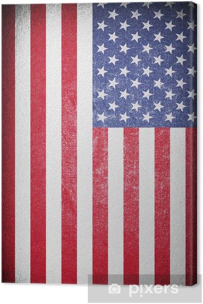 Vintage American Flag Canvas Print - Backgrounds