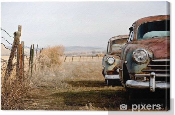vintage cars Canvas Print - On the Road