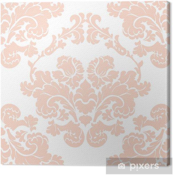 Vintage Damask Elegant Flower Ornament Pattern Luxury Texture For