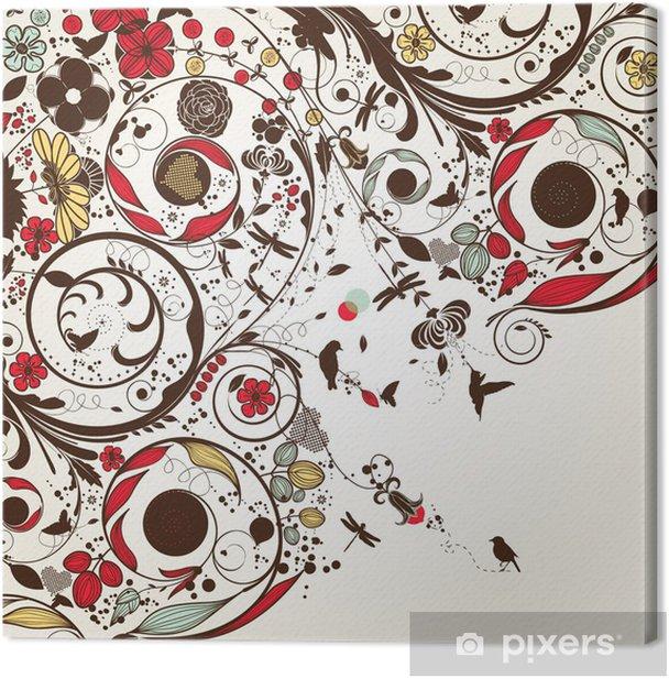 vintage flower Canvas Print - Themes