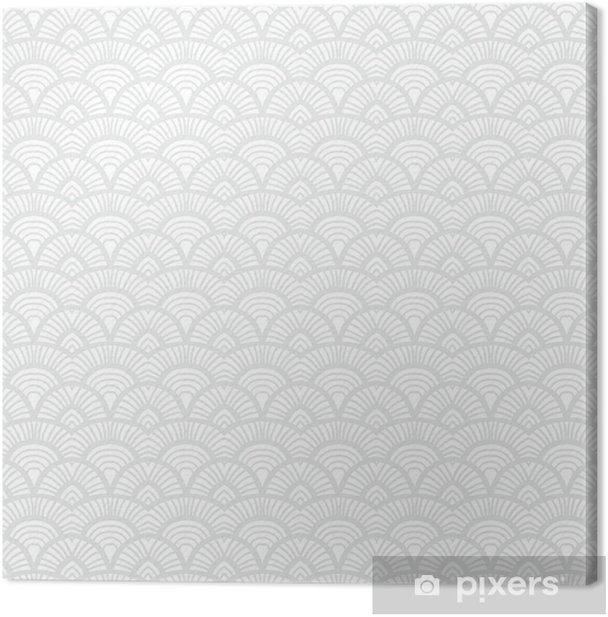 Vintage hand drawn art deco pattern Canvas Print - Graphic Resources